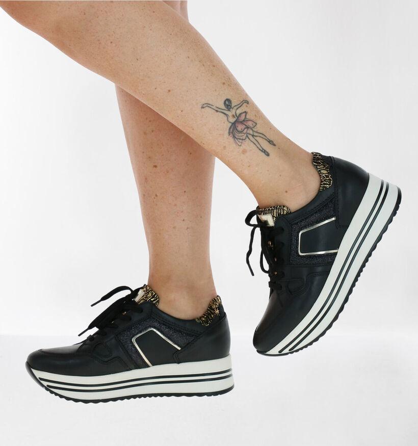 NeroGiardini Zwarte Sneakers in leer (278984)