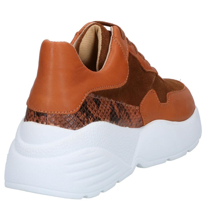 Via Limone Chaussures à lacets en Cognac en daim (264967)
