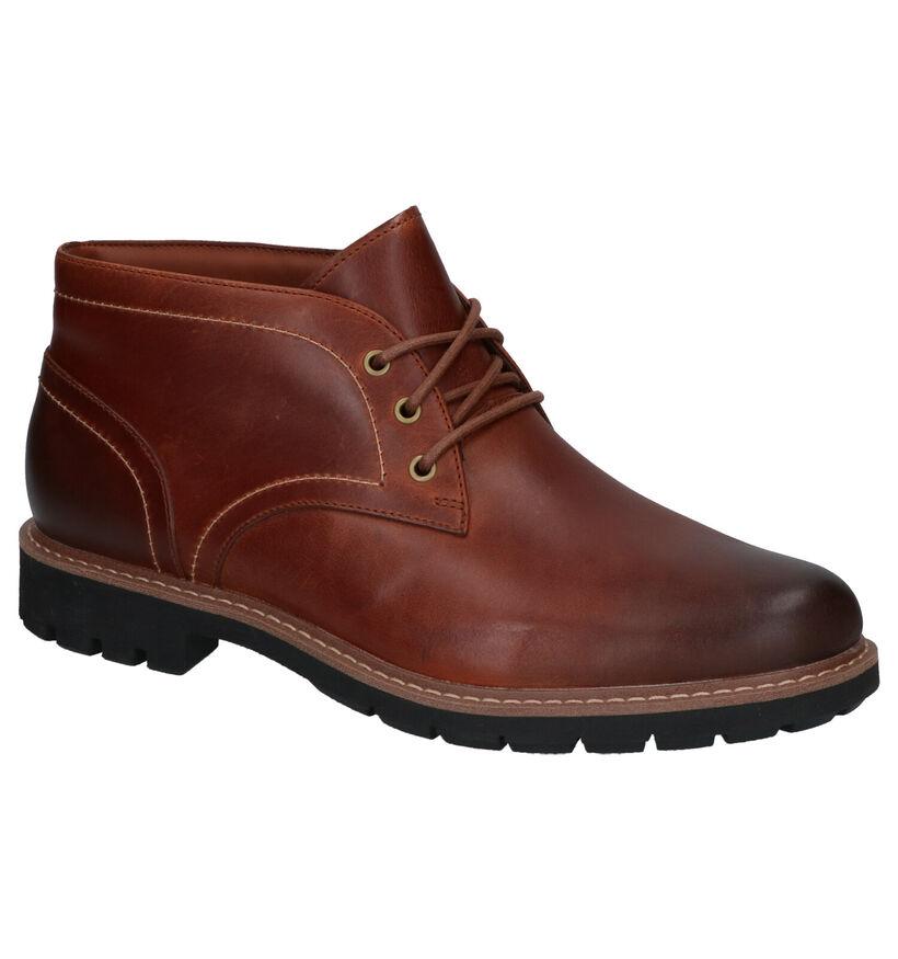Clarks Batcombe Cognac Hoge Schoenen in leer (256231)