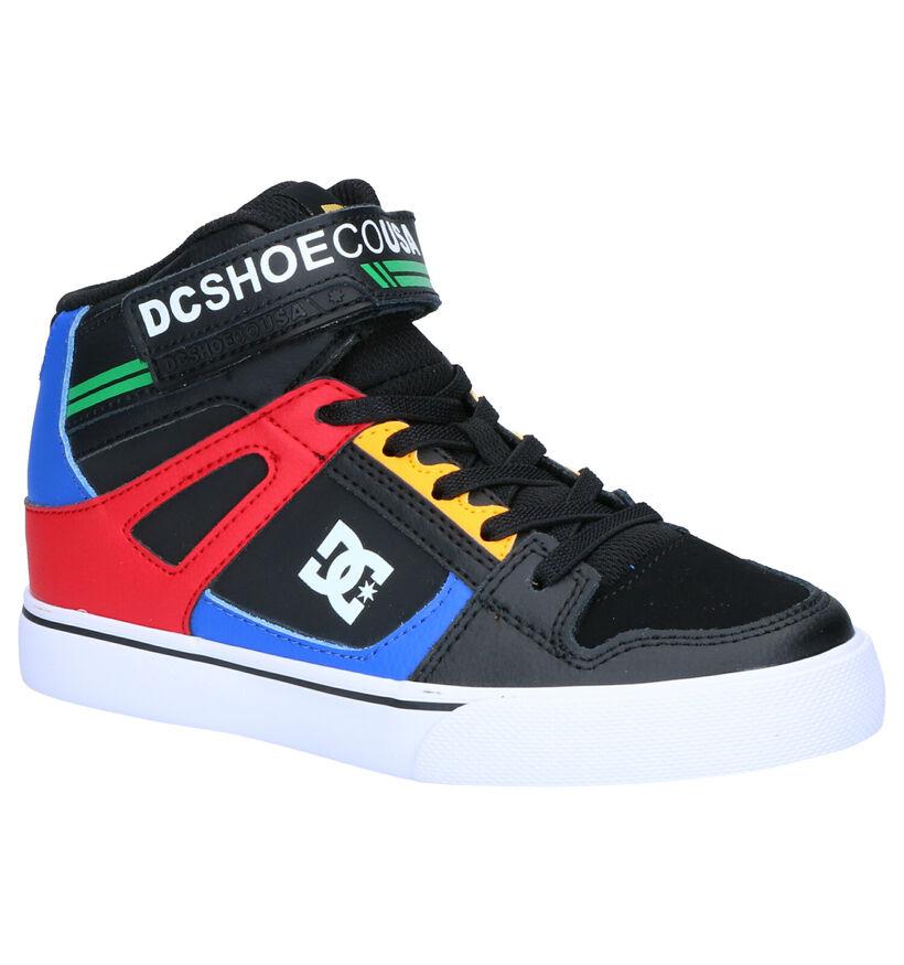 DC Shoes Pure High Top Zwarte Skateschoenen in kunstleer (263587)