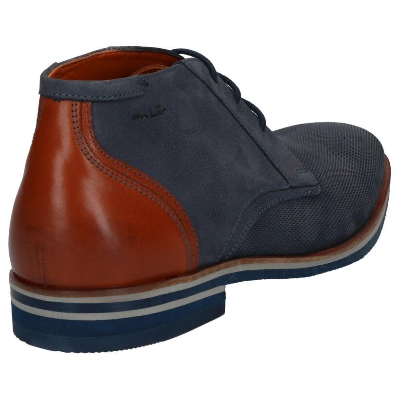 Van Lier Chaussures hautes en Bleu foncé en nubuck (277026)