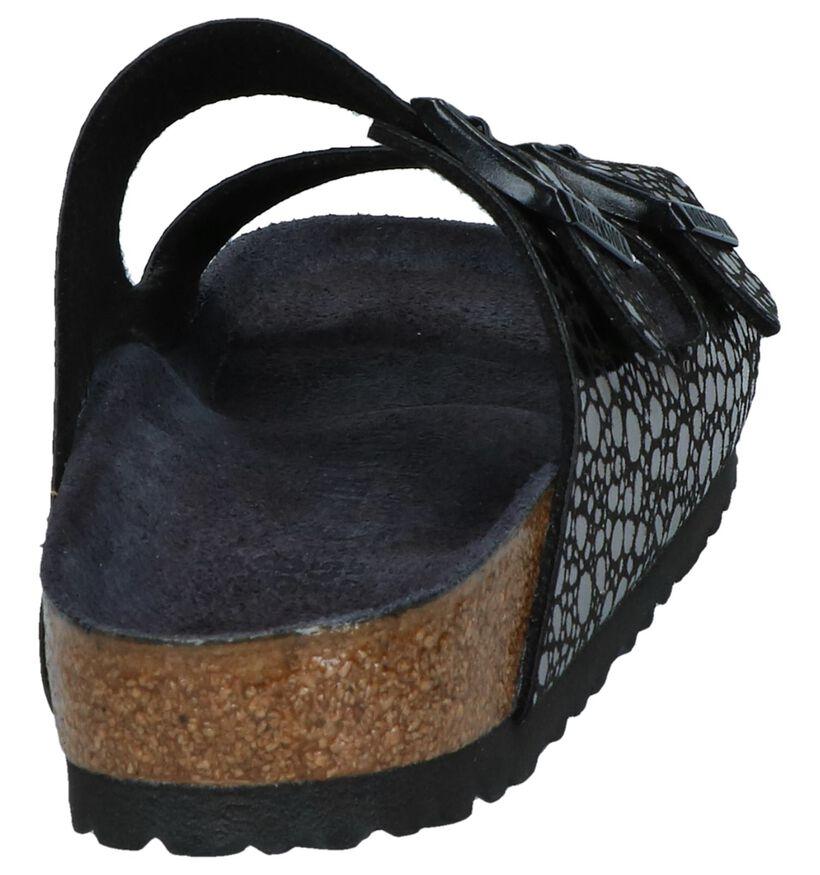 Birkenstock Arizona Nu-pieds plates en Noir en simili cuir (255841)