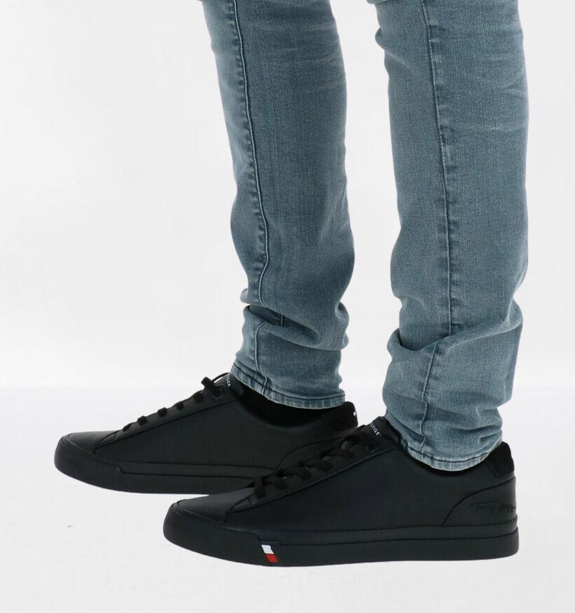 Tommy Hilfiger Corporate Chaussures à lacets en Noir en cuir (279960)