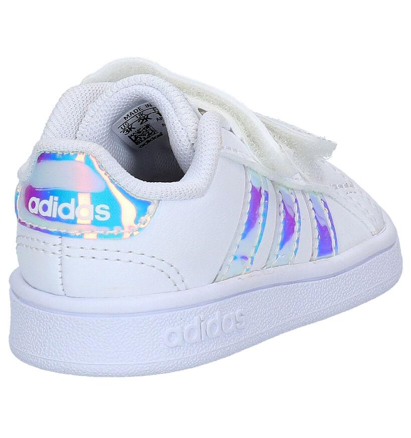 adidas Grand Court I Witte Sneakers in kunstleer (273500)