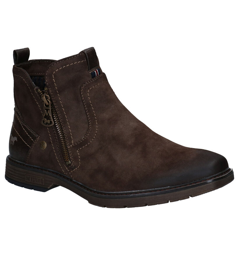 Mustang Bruine Boots in stof (280939)