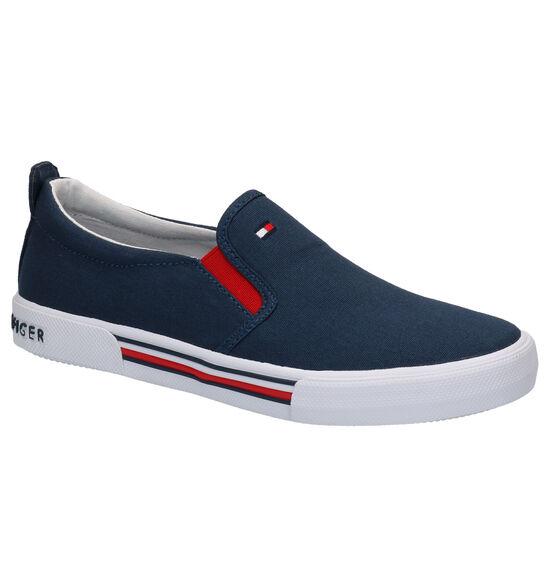 Tommy Hilfiger Chaussures slip-on en Bleu foncé