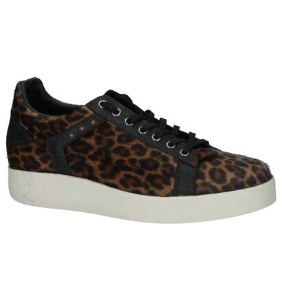 Bruine Sneakers Pantofola d'Oro Lecce Leopard Donne Low, Bruin, pdp