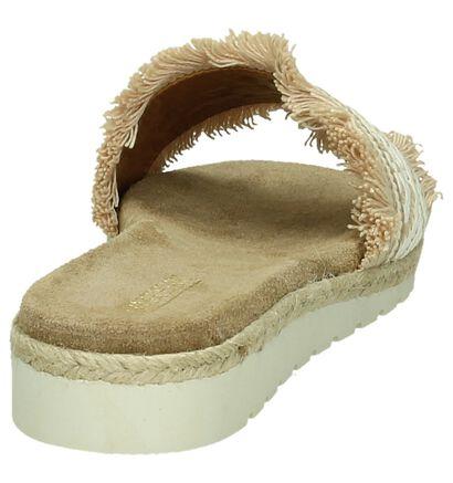 Artigiano Italiano Beige slippers in stof (190008)