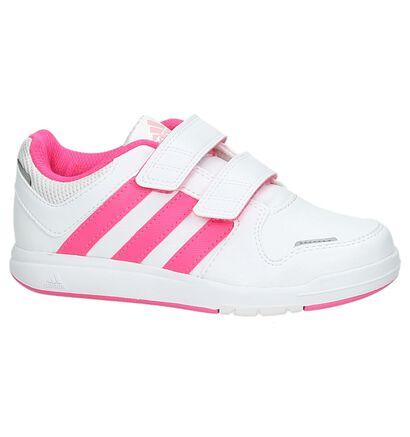 Wit/roze Sneaker adidas LK Trainer in kunstleer (162910)