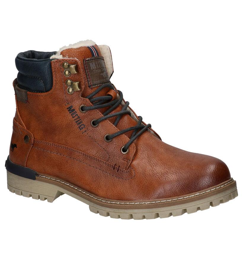 Mustang Bruine Boots in kunstleer (260329)