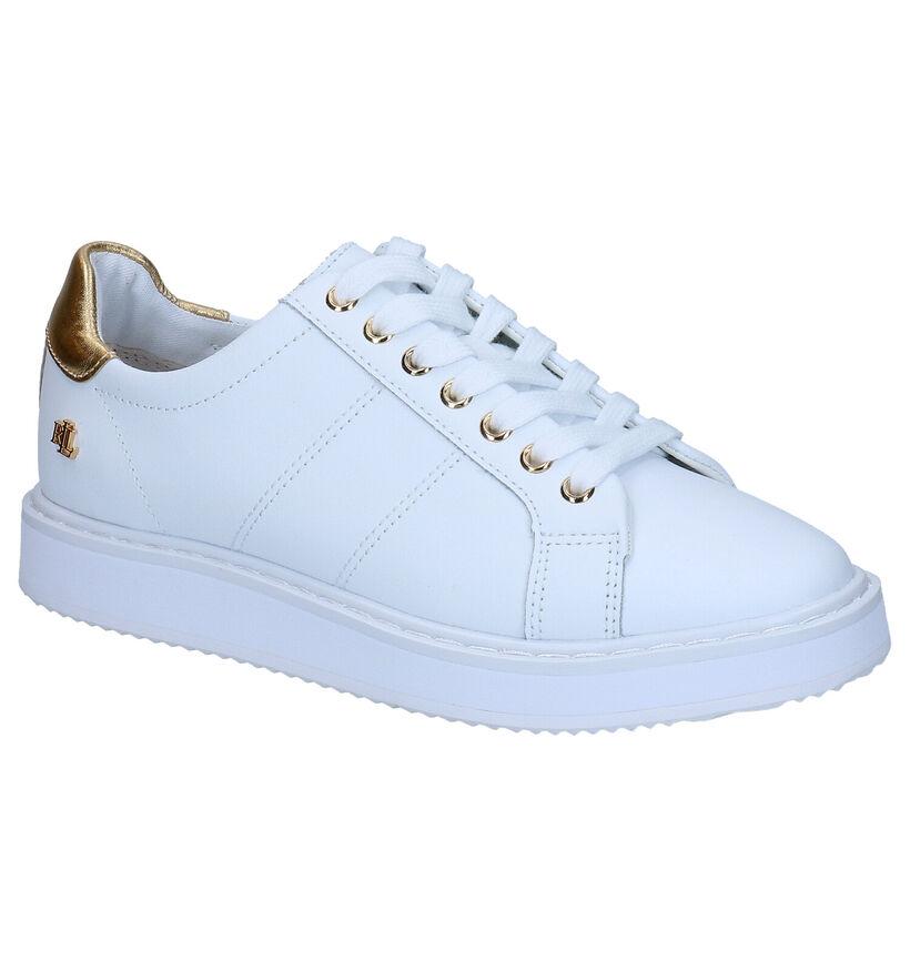 Lauren Ralph Lauren Angeline Witte Sneakers in leer (278179)