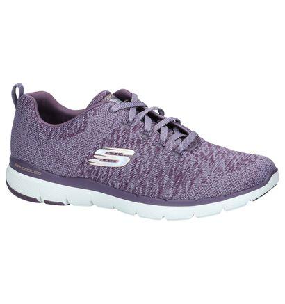 Zwarte Sneakers Skechers Flex Appeal, Paars, pdp