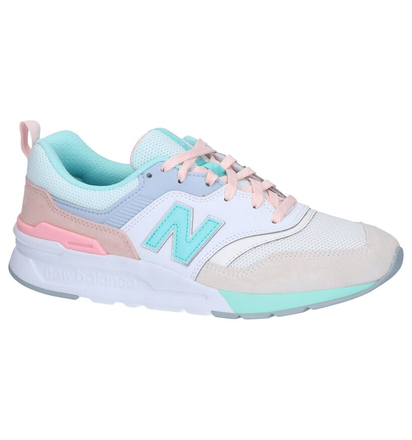 New Balance 997 Blauwe Sneakers in daim (266997)