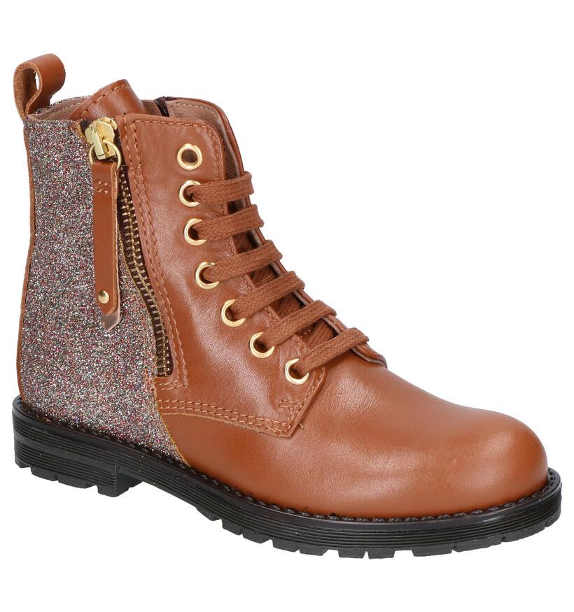 Bana & Co Chaussures hautes en Cognac en cuir (256844)