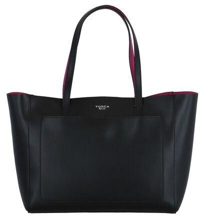 Zwarte Shopper Tas Tosca Blu, Zwart, pdp