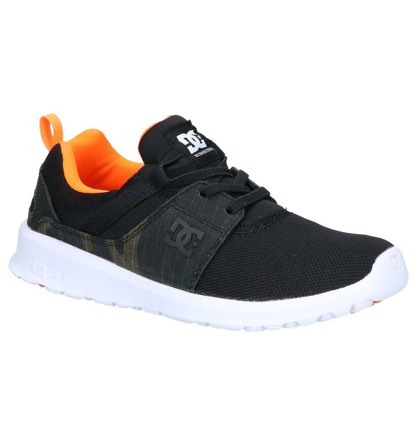DC Shoes Heathrow Zwarte Sneakers in stof (263588)