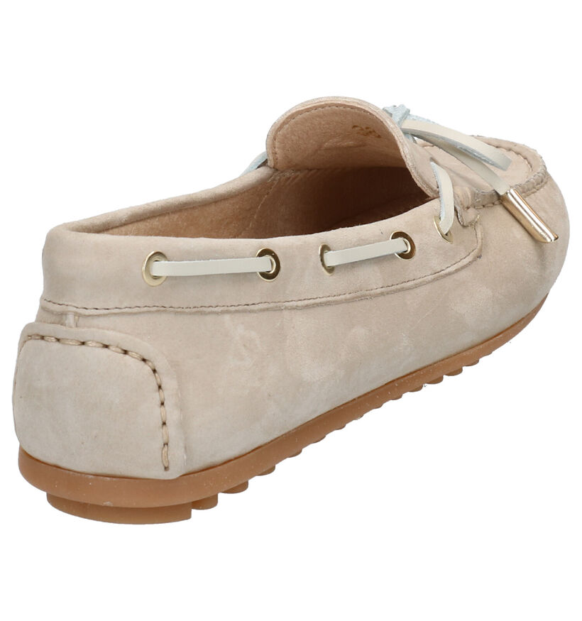 Scapa Beige Mocassins in daim (270356)