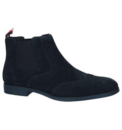 Donker Blauwe Chelsea Boots Tommy Hilfiger Dressy Casual Suede in daim (225230)