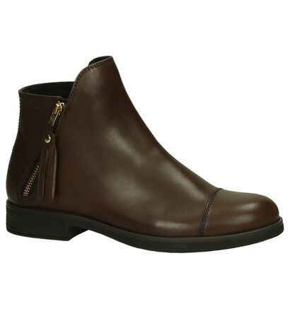 Geox Donkerbruine Boots in leer (200284)