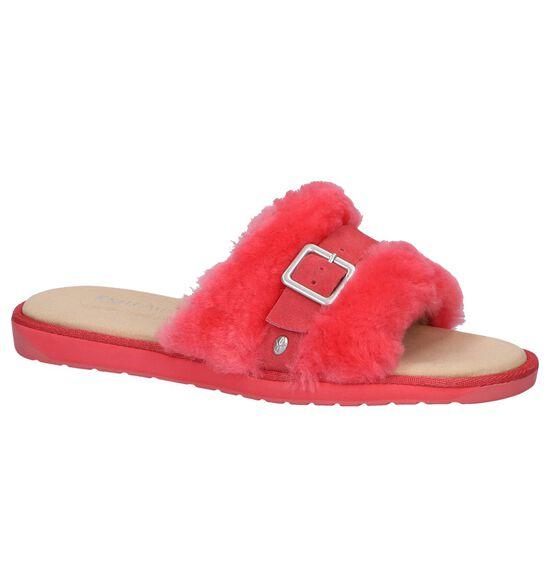 EMU Nu-pieds plates en Rouge clair
