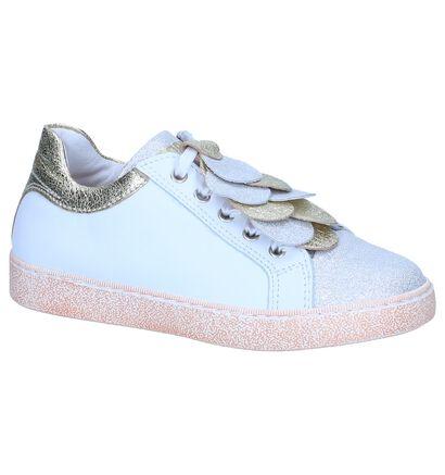 Witte Schoenen STONES and BONES Chera in leer (240711)