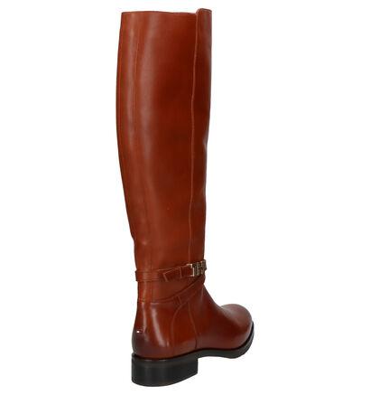Tommy Hilfiger Bottes hautes en Cognac en cuir (255885)