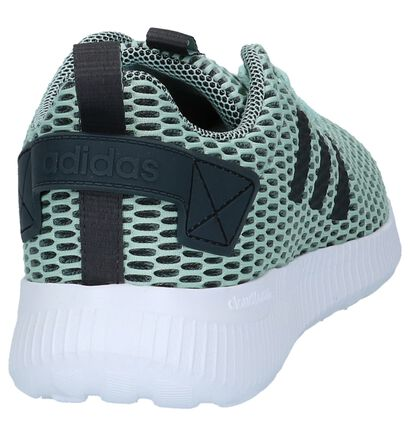 Donkergrijze adidas CF Lite Racer CC Sneakers, Groen, pdp