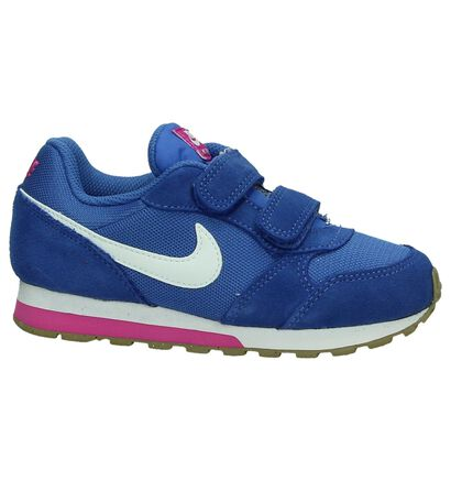 Nike MD Runner Baskets basses en Bleu en daim (198110)
