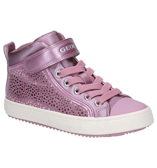 Geox Kalispera Roze Hoge Sneakers