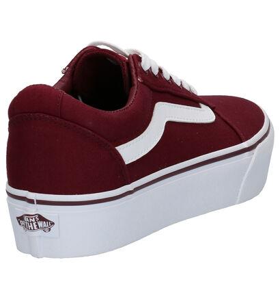 Vans Ward Platform Witte Sneakers in stof (267604)