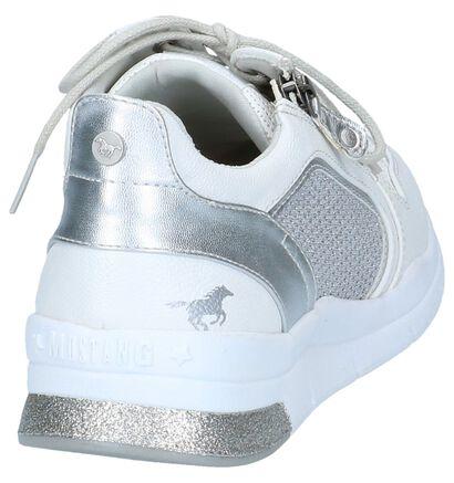 Witte Sneakers Mustang in kunstleer (246229)