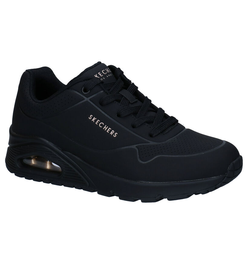 Skechers Uno Stand On Air Beige Sneakers in kunstleer (279330)