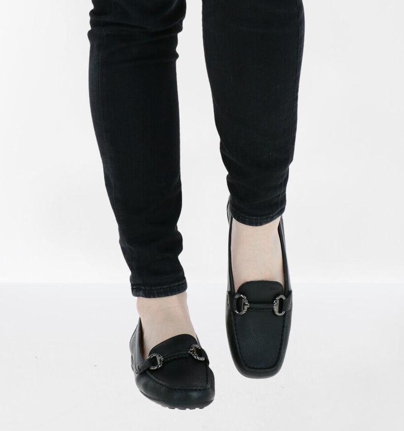 Geox Donna Mocassins en Noir en cuir (277057)