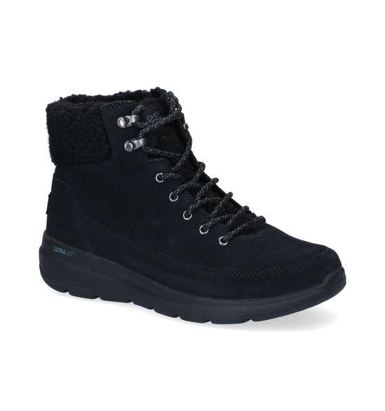 Skechers Glacial Ultra Zwarte Wandelschoenen