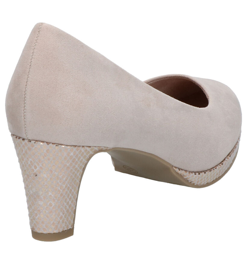 Marco Tozzi Taupe Pumps in stof (270658)