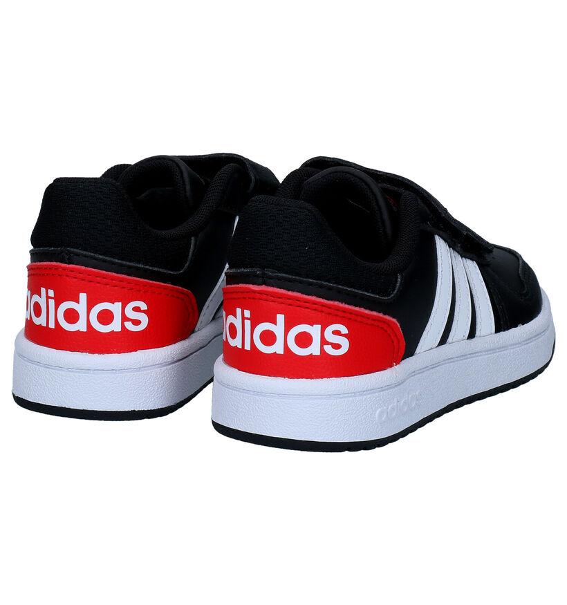 adidas Hoops Zwarte Sneakers in kunstleer (290778)