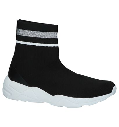 Youh! Denelly Zwarte Slip-on Sneakers, Zwart, pdp
