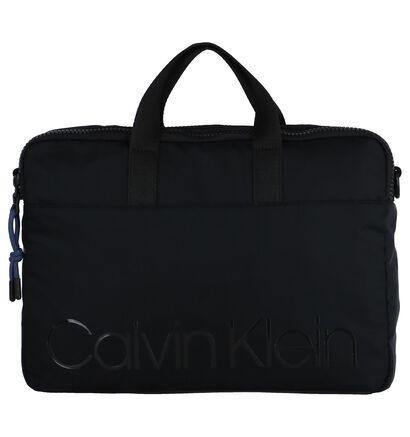 Zwarte Laptoptas Calvin Klein Trail Slim in stof (257288)