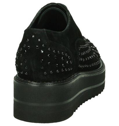 Zinda Chaussures à lacets en Noir en daim (185273)