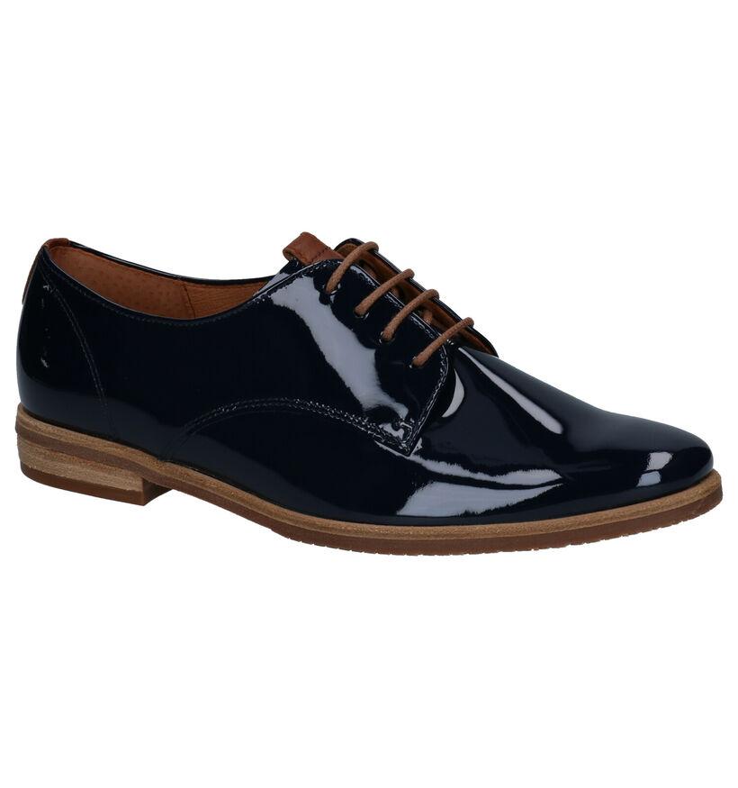Gabor Chaussures à Lacets en Bleu en simili cuir (271682)