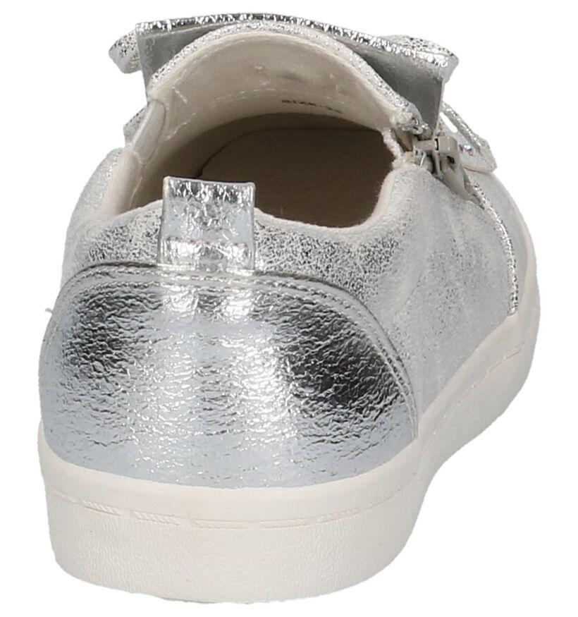 Little David Chaussures slip-on en Argent en simili cuir (217952)