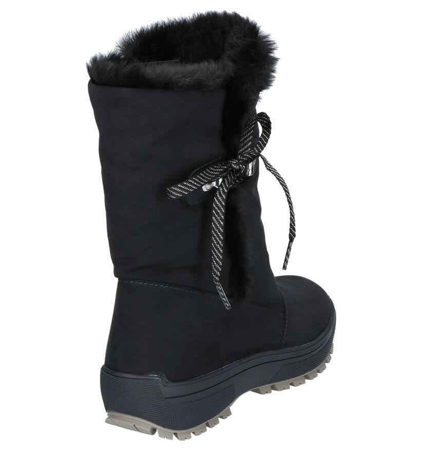 Olang Grazia Zwarte Snowboots in daim (262751)