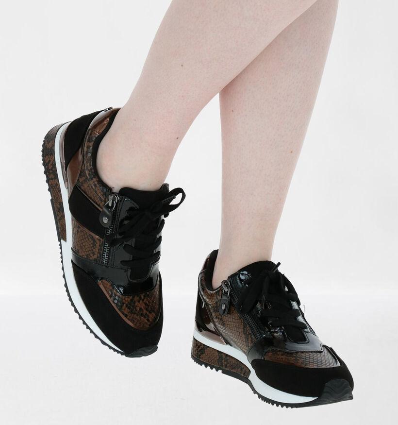 La Strada Chaussures à lacets en Noir en simili cuir (278699)