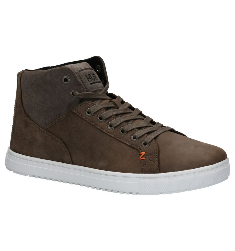 Hub Murrayfield Grijze Sneakers in nubuck (255798)
