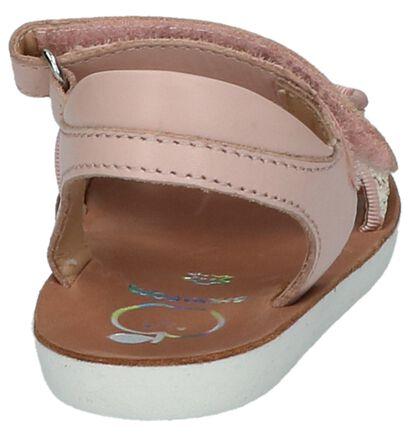 Roze Shoo Pom Goa Scratch Piping Sandalen, Roze, pdp