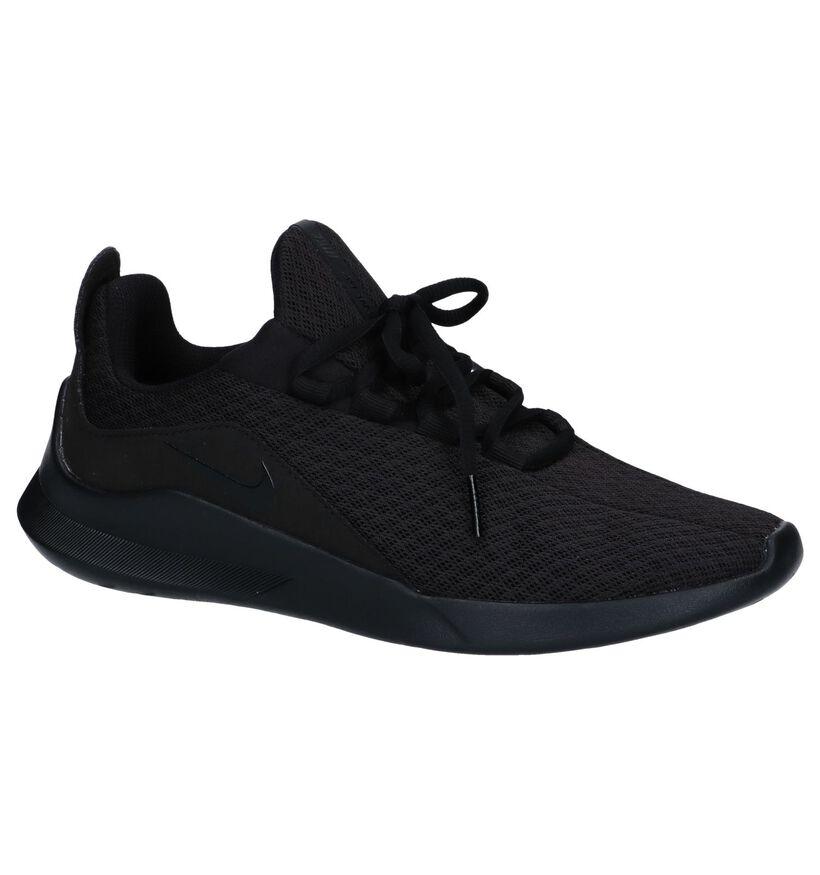 Zwarte Slip-on Sneakers Nike Viale in stof (250258)