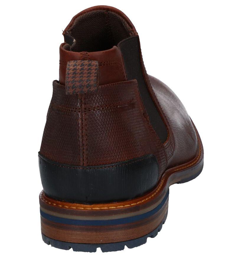 Bullboxe Cheslea Bottines en Cognac en cuir (276987)