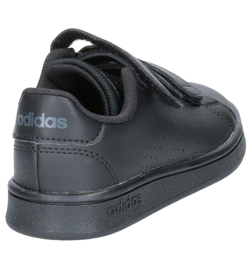 adidas Advantage Zwarte Sneakers in kunstleer (252541)