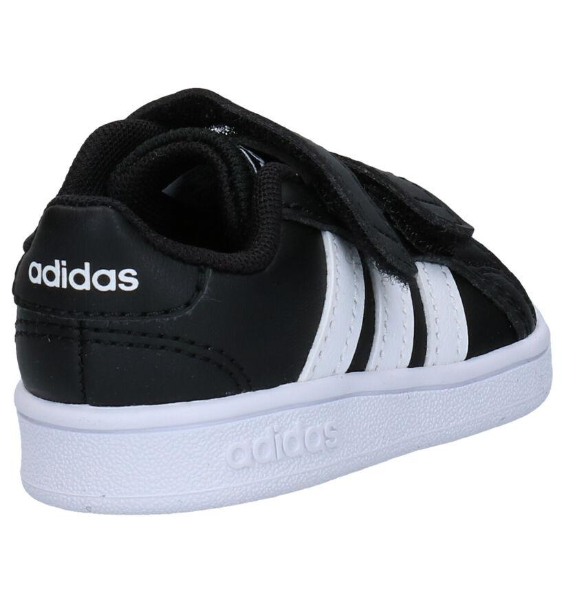 adidas Grand Court Zwarte Babysneakers in kunstleer (252545)
