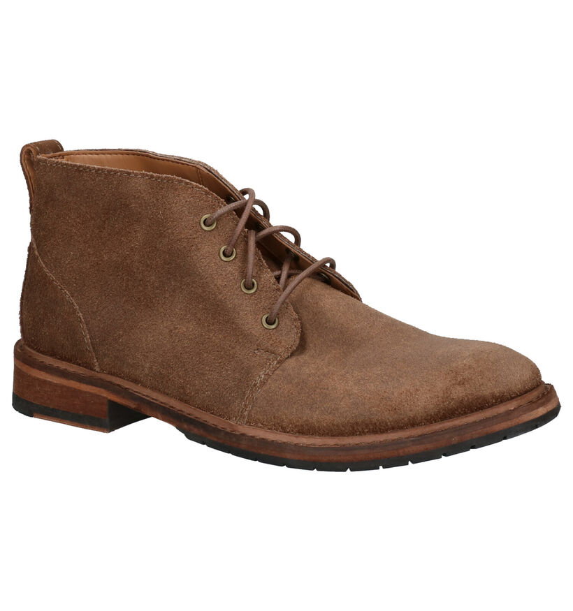 Clarks Clarkdale Base Taupe Boots in daim (256164)